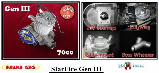 """B 30mm high piston 1 1//16/"""" bearing pin ring clip 66cc Motor bike GAS ENGINE"""